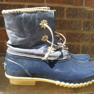 Dark Blue Jack Rodgers Waterproof Duck Boots Sz 9